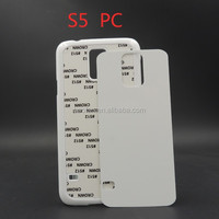 Plastic sublimation phone case for samsung galaxy S5,2D sublimation phone case