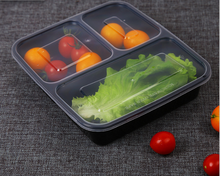 Black Microwave Safe Plastic Disposable Food Packaging Container