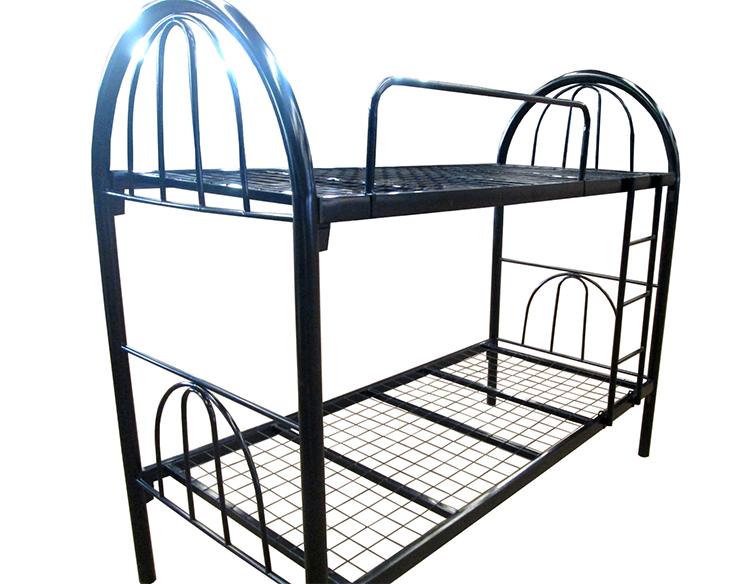Cheap popular modern school use iron bunk bed frame metal for Cheap bunk bed frames