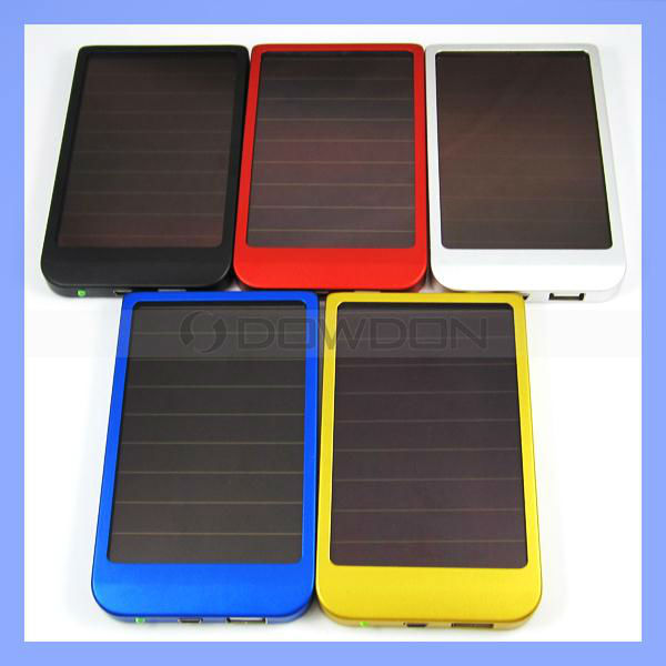 2600mAh Solar Power Charger Portable USB Solar Mobile Charger for iPhone Mobile Phone
