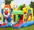 Hot sale clown inflatable bouncer with slide/inflatable bouncy castle