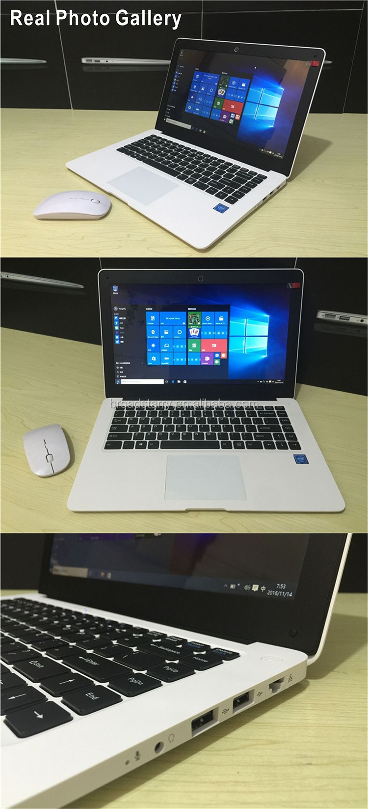 Factory wholesale cheap 14inch Quad core Z3735f 1.8Ghz cpu 2G ram 32G SSD+320GB HDD Ultrabook laptops