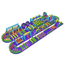 Cheap world's biggest inflatable obstacle course, longest and largest the beast inflatable obstacle course for adults