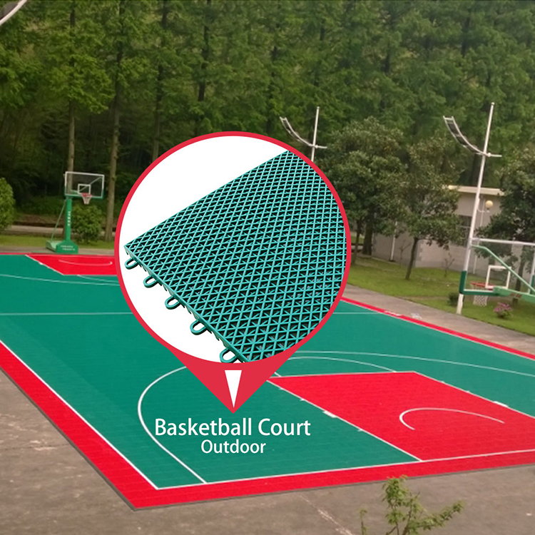 High quality good price soundproof outdoor basketball court flooring
