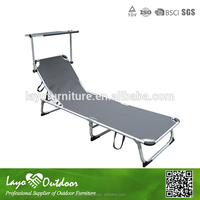 ISO9001 certification recling beach / pool chair seating lounger set with sunshade