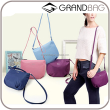 OEM hot sell simple pure color leisure canvas messenger shoulder bag for women