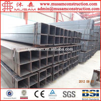 Q195 Mild Steel hot dip / pre galvanized square hollow section 100x100x5 Tianjin factory