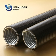 LEINUOER PVC coated corrugated metal flexible conduit pipes (flat coat)