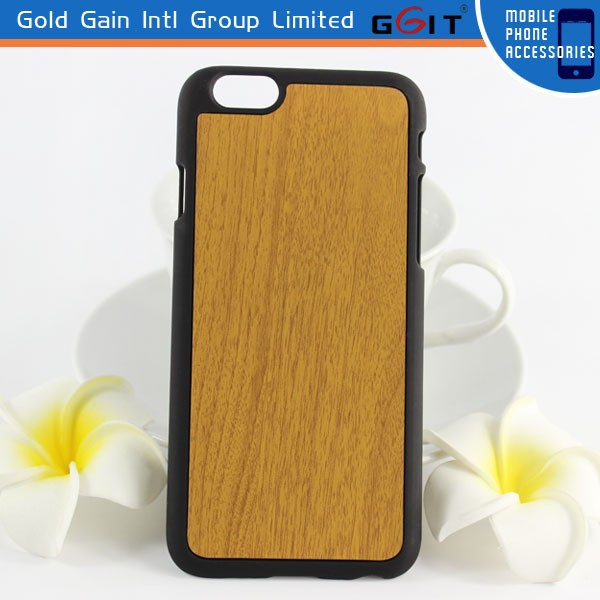 Wooden Skinning PC Hard Case =for iPhone 6 Back Cover