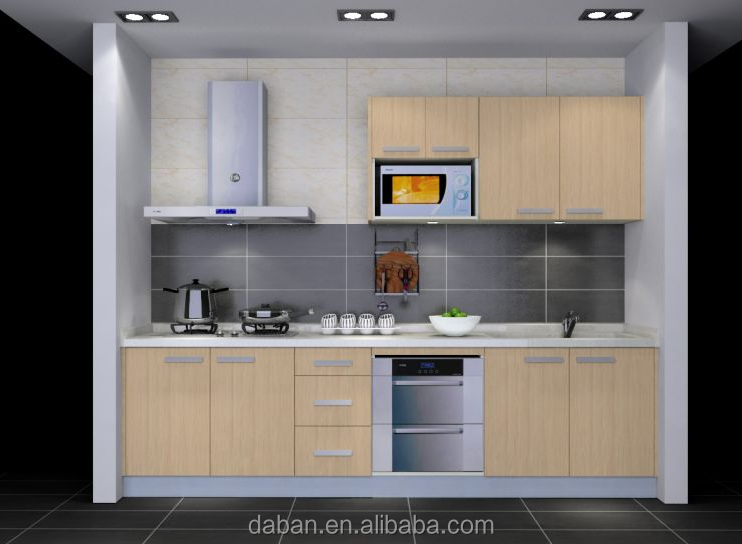 Melamine Particle Board Water Resistance Kitchen Cabinet ...