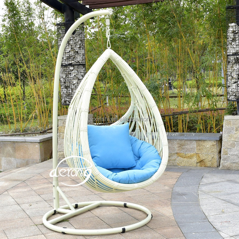 Pe rattan garden hanging egg chair cheap price patio leaf