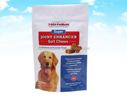 eco-friendly pet soft chews packing bags for medium and large dogs