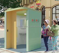 Customized luxury FRP Fiberglass portable public WC toilet for Downtown street