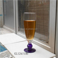 450ml promotional color footed thine pilsner beer glass