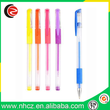 Plastic Blue Gel Pen with Highlight Color Ink