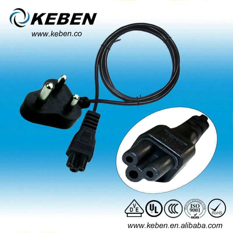 High quality 3.5mmSouth Africa AC c7 power cord