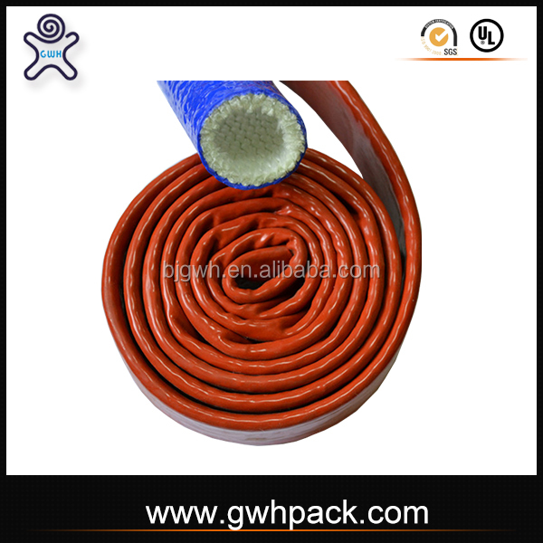 silicone rubber fiberglass electrical wire sleeve for high temperature places
