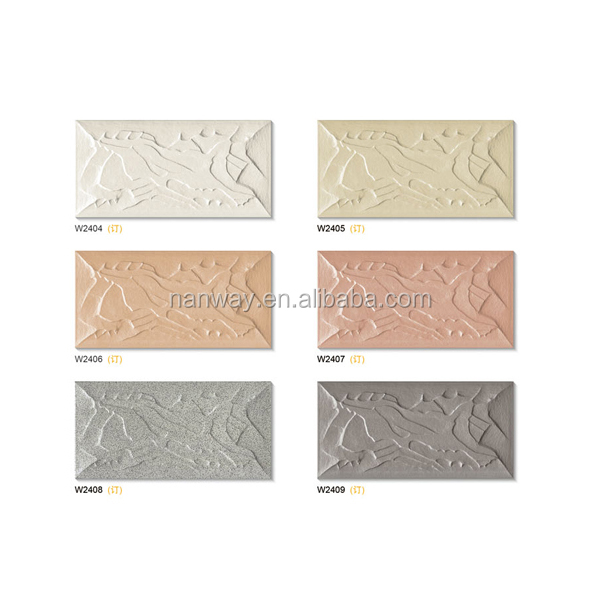Sculpture texture external ceramic exterior wall tile - 200x400mm