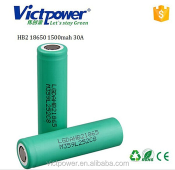 18650 ltihium battery HB2 18650 1500mah 30A battery cell for LG