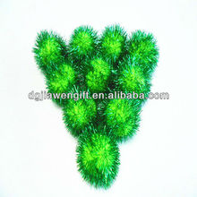 "Festive Supplies 1.5"" Green Glitter Pompoms ,DIY Toy Glitter Pompom"