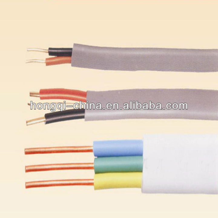 300/ 500V Copper heating multicore PVC electrical flat wire power cable