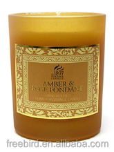 Hot sale soy wax; palm wax candle jars with lid scented candle