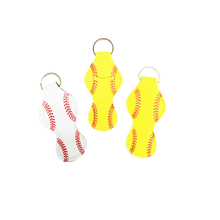 Softball Chapstick Holder Neoprene Earphone Holder