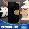 fashion for iphone 4 case diamond buckle lizard grain leather phone case for iphone 4 case