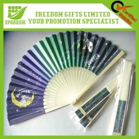 Adverting Logo Printing Bamboo Paper Hand Fan