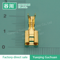 DJ622-D6.3B 250 type brass female crimp terminal,automotive terminal connectors