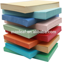 210gsm A4 colourful embossed leather grain cover paper