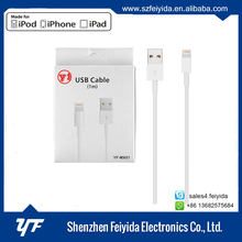 MFI license manufacturer brand YF original cable with c48 connector tpe mfi cable for iphone