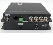 4 ch Video+Ethernet+RS485 To Fiber Optic video audio data fiber converter