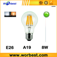 Worbest Energy Saving E26 2/4/6/8W Edison Filament Led Lamp Flame 360 degree UL listed
