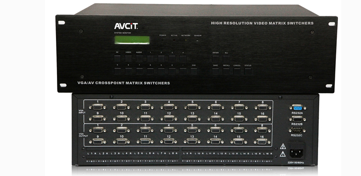 AV Control Solution 16x4 HDMI Matrix 16 Channel Signal in 4 Channel Signal out VGA Matrix Switchers