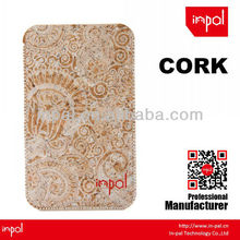 customized blank cork leather case for iphone 5