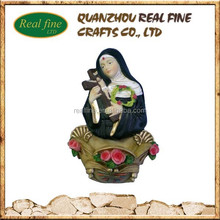 Polyresin Religious Figurine,Resin Buddha Figurine With Cross Fountain