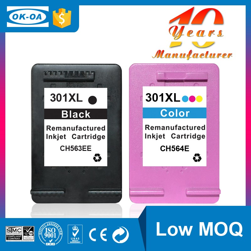 Accept small order for hp 301 xl printer ink cartridge for Deskjet <strong>1000</strong>, 1050, 1050se