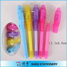 China fenshui plastic uv light invisible ink pen