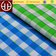 China cheap woven 100% cotton yarn dyed plaid poplin shirting wholesale fabric