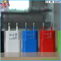 High quality 5v 1A flat usb wall charger with UL CE Fcc RoHs approved