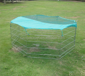 Foldable Metal Pet Playpen With Waterproof Cover
