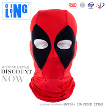 Soft Lycra Spandex Deadpool Mask Hood Super Hero Balaclava Deadpool Cosplay Costume Halloween X-men Deadpool Full Face Mask