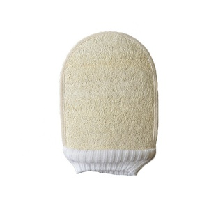 Natural Loofah Sponge Exfoliating Pad 2 in 1 Professional Design Loofah Mitt