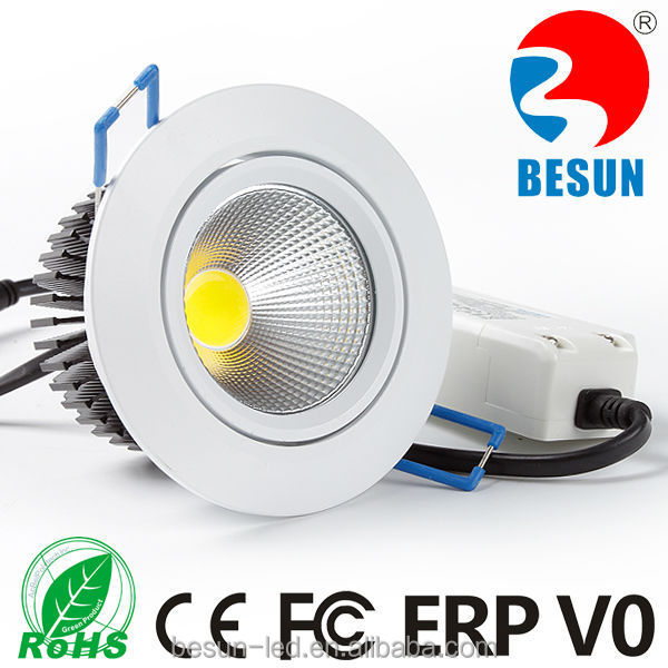 Hot 6w Dimmable warm white/day light white/cool white LED downlight led shop ceiling light with 5 years warranty