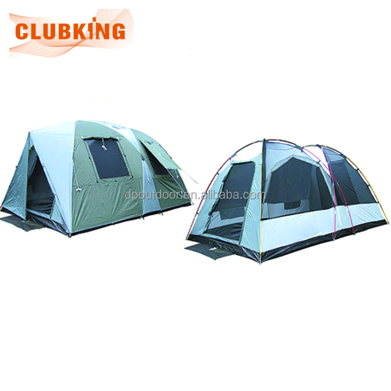 6 person instant family hiking cabin canopy gray tent