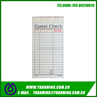 Customizable restaurant carbonless guest check,duplicate book, waiter order pad book