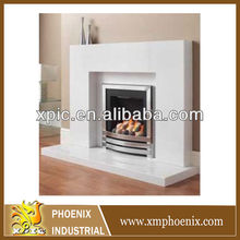 surrounds stone mantel carrera marble fireplace surround