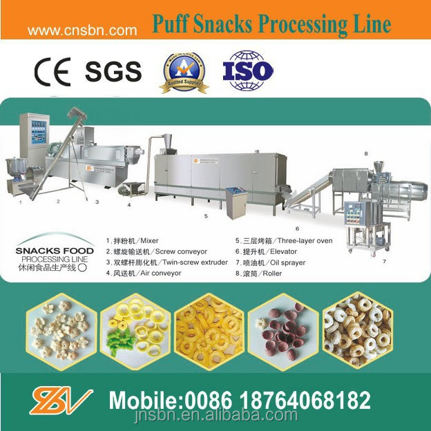 Delicious cheese puff snack food produce line