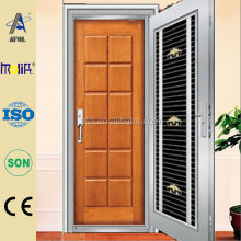 Zhejiang AFOL inside wood outside stainless steel door latest design sales promotion